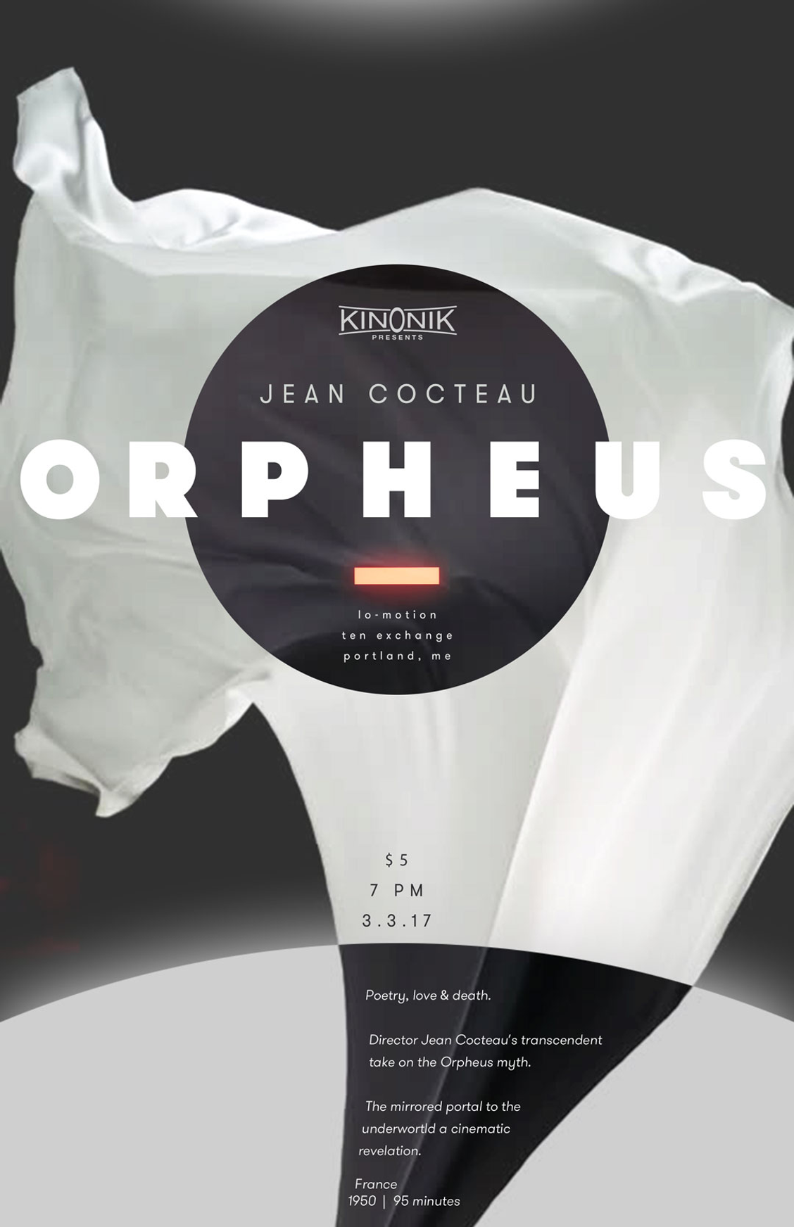 Poster for Jean Cocteau's Orpheus