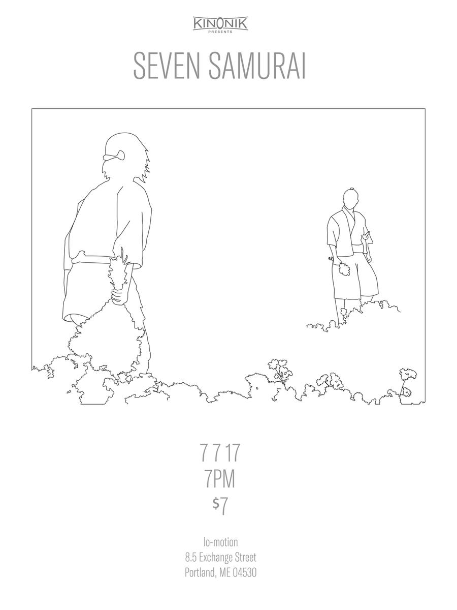 Poster for Akira Kurosawa's Seven Samurai
