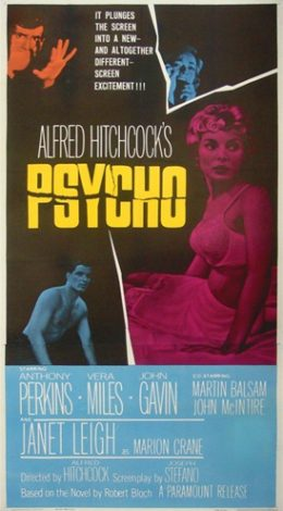 Alfred Hitchcock's Psycho movie poster