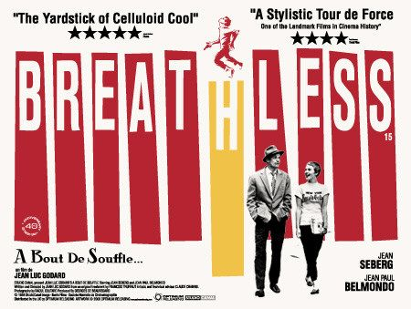 Jean-Luc Godard's Breathless movie poster